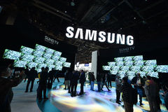 SAMSUNG at CES 2016 Stock Photos