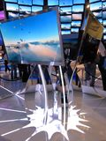 Samsung convention booth at CES 2010 Stock Photos