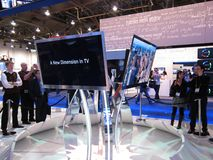 Samsung convention booth at CES 2010 Royalty Free Stock Images