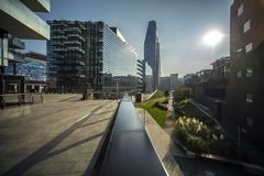 Samsung District, Italian Headquarter, Milan stock image