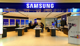 Samsung electronics store hong kong Stock Photo