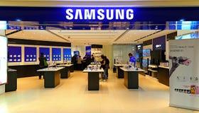 Samsung elektronika sklepu Hong kong Zdjęcie Stock