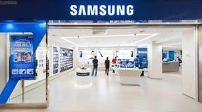 Samsung entreposé dans le mail de Suria KLCC, Kuala Lumpur Photographie stock libre de droits