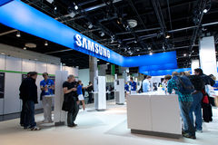 Samsung exhibition hall at Photokina 2012 Royalty Free Stock Photo