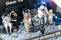Samsung exhibition stand of virtual reality Royalty Free Stock Images
