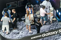 Samsung exhibition stand of virtual reality Stock Images