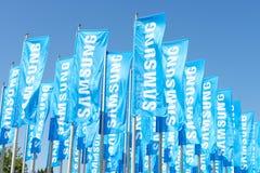 Samsung flaggor Royaltyfria Foton