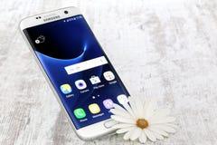 Samsung galaktyki S7 krawędzi bielu perła Zdjęcie Stock