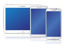 Samsung galaxfamilj Royaltyfria Bilder