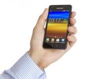 Samsung galaxSII Fotografering för Bildbyråer