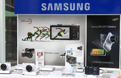 Samsung smart camera. Samsung Galaxy smart camera photo store in Bucharest,Romania Royalty Free Stock Photos
