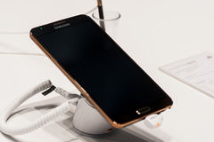 SAMSUNG GALAXY NOTE 3, MOBILE WORLD CONGRESS 2014 Royalty Free Stock Image