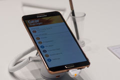 SAMSUNG GALAXY NOTE 3, MOBILE WORLD CONGRESS 2014 Stock Photo