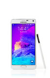 Samsung Galaxy Note 4 with clipping path Stock Images