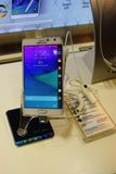 Samsung Galaxy Note Edge Smartphone On Display Stock Image