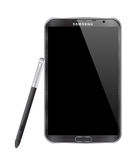 SAMSUNG GALAXY NOTE II. Isolated on white background Royalty Free Stock Photography