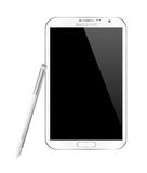 SAMSUNG GALAXY NOTE II WHITE Stock Photography