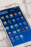 SAMSUNG GALAXY NOTE 2, MOBILE WORLD CONGRESS 2014 Royalty Free Stock Images