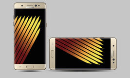 Samsung Galaxy Note 7 Style Vector Royalty Free Stock Photography
