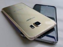 Samsung galaxy s6 edge full desain edge. Samsung galaxy s6. Ram 4gb internal troge 32gbnNice desain n see interestnFingerscan n4g lte selluler Royalty Free Stock Images