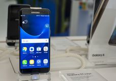 SAMSUNG GALAXY S7 EDGE - MOBILE WORLD CONGRESS 2016 Stock Images