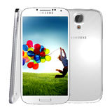 Samsung Galaxy S4. The Samsung Galaxy S4 handset steadily draws from the same design language as the S3, but takes almost every spec to an extreme -- the screen Royalty Free Stock Photo