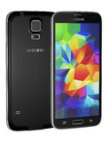 Samsung Galaxy S5. Is the newest smart phone from Samsung and support 5.1 inches Multi-touch extream high resolution display (1080 x 1920 pixels) and Android OS Royalty Free Stock Images
