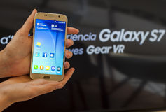 SAMSUNG GALAXY S6 - MOBILE WORLD CONGRESS 2016 Stock Images