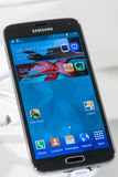 SAMSUNG GALAXY S5, MOBILE WORLD CONGRESS 2014 Stock Images