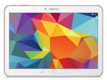 Samsung Galaxy Tab 4 10.1 LTE white. Illustration Royalty Free Stock Image