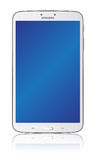 Samsung Galaxy Tab 3 8.0 White. The new Samsung Galaxy Tab 3 8.0 illustration. Front view of a Samsung Galaxy Tab 3 8.0 android tablet isolated on white Stock Image