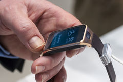 SAMSUNG GEAR 2, MOBILE WORLD CONGRESS 2014 Royalty Free Stock Photography