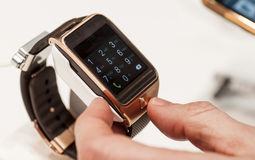 SAMSUNG GEAR 2, MOBILE WORLD CONGRESS 2014 Royalty Free Stock Image