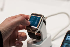 SAMSUNG GEAR 2, MOBILE WORLD CONGRESS 2014 Stock Images