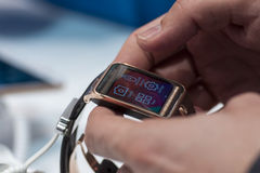 SAMSUNG GEAR 2, MOBILE WORLD CONGRESS 2014 Royalty Free Stock Images