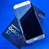 Samsung-het Zilver van de Melkwegs7 RAND Royalty-vrije Stock Afbeeldingen
