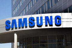Samsung kontor i Amsterdam Arkivfoto