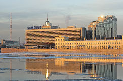 Samsung logo on the Hotel  Stock Image