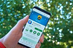 Samsung Mój Knox mobilny app na Samsung s8 obrazy stock