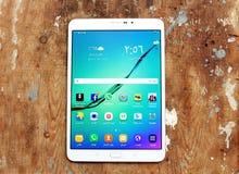 Samsung marquent sur tablette Photo libre de droits