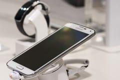 SAMSUNG-MELKWEG S5, MOBIEL WERELDcongres 2014 Royalty-vrije Stock Foto's