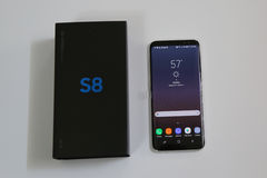 Samsung newest phone Galaxy S8 now being delivered to pre-order customers Stock Photos