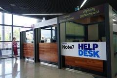 Samsung Note7 helpdesk kontuar Fotografia Stock