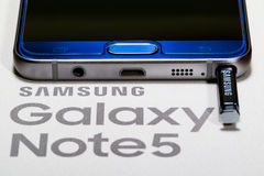 Samsung Note 5 Stock Images