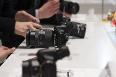 SAMSUNG NX30, MOBIEL WERELDcongres 2014 Stock Foto's