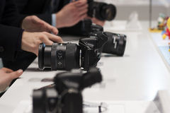 SAMSUNG NX30, MOBILE WORLD CONGRESS 2014 Stock Photos