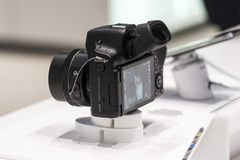 SAMSUNG NX30, MOBILE WORLD CONGRESS 2014 Stock Photo