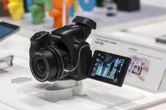 SAMSUNG NX30, MOBILE WORLD CONGRESS 2014 Royalty Free Stock Photos