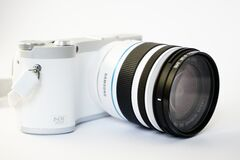 Samsung NX300 digital camera Stock Photo