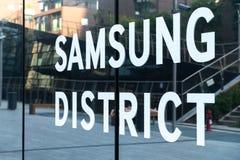 Samsung område i Milan, Italien arkivfoton